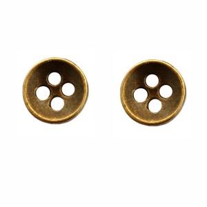 Bouton Métal 11mm, coloris bronze