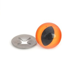 Yeux sécurité fauve 18mm pour peluche, pupille œil de chat (2 paires)