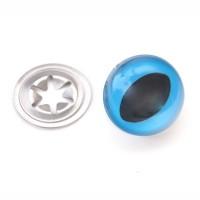Yeux sécurité bleus 24mm pour peluche, pupille œil de chat (1 paires)