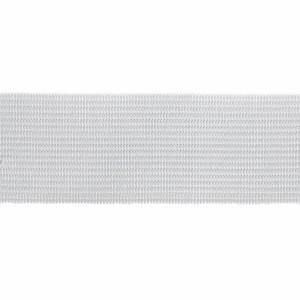 Élastique plat blanc, 3 cm
