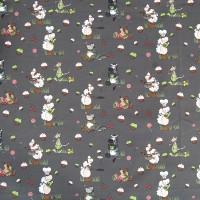 Tissu Gourmandise gris, designer Les Moutons de Kallou