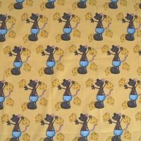 Tissu Paradis de Ratafia, grands motifs, designer Les Moutons de Kallou