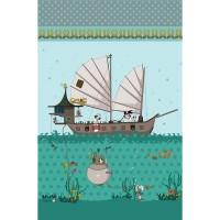 Grand Panneau Pirate, designer Les Moutons de Kallou 50 x 80 cm