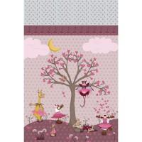 Grand Panneau tissu Danseuses, designer Les Moutons de Kallou 50 x 80 cm