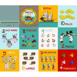Panneau livre pour compter, designer Les Moutons de Kallou