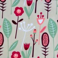 Jersey Fleurs des Marais, tissu bio