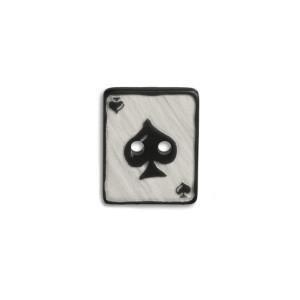 Bouton Carte à Jouer, As de pique