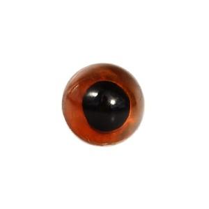 Yeux fauve 9mm pour peluche, pupille ronde (5 paires)