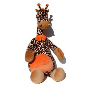 Kit girafe avec noeud papillon orange, ref. KdokitGirafe