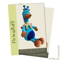 Patron PDF de la peluche Flo la Girafe.