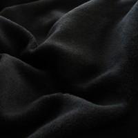 Tissu doudou Flurr, coloris noir (tissu des Youmis)