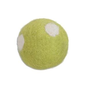 Boule en feutre à pois, 3 cm coloris vert Anis