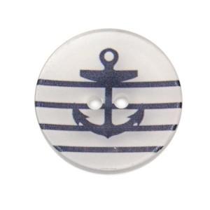 Bouton Ancre Marine, Transparent Grand format