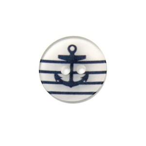 Bouton Ancre Marine, Transparent Petit format