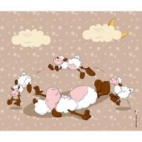 Panneau Saute-Mouton, coloris Caramel, designer Les Moutons de Kallou 47 x 40 cm