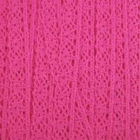 Dentelle aux fuseaux, coloris rose framboise