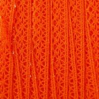 Dentelle aux fuseaux, coloris orange