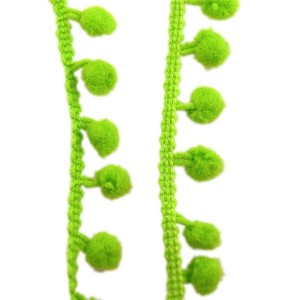Galons petits Pompons, coloris vert anis