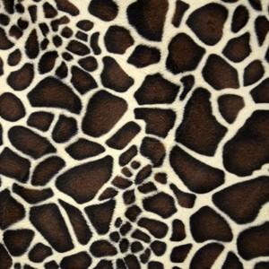 Tissu fourrure Girafe ( x 50 cm)