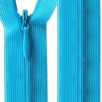 Fermeture éclair invisible, bleu turquoise 40 cm