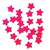 Perle Etoile rose fluo, lot de 10