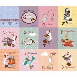 Panneau livre des Lettres Pastel, designer Les Moutons de Kallou