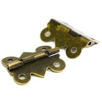 Charnière 25mm, coloris bronze antique, x 2 pièces