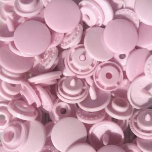 Pression Kam rond, coloris Rose pâle (lot de 10)