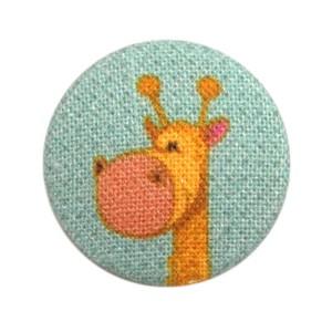 Bouton recouvert Girafe, coloris Celadon