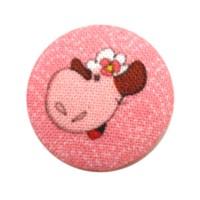 Bouton recouvert Mouton, coloris Rose Japon