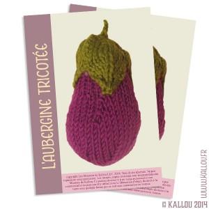 Patron PDF de l'aubergine tricotée