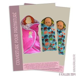 Patron PDF de la couverture pour bébé prématuré (pour poupée également)