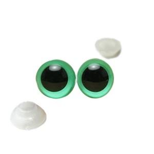 Yeux sécurité Vert 6mm pour peluche (3 paires)