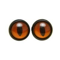 Yeux sécurité Fauve 14mm pour peluche, pupille oeil de chat (1 paire)