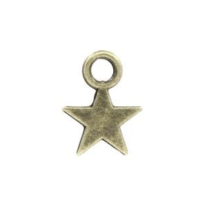Petite Breloque Etoile, coloris Bronze Antique 11 x 8 mm (lot de 10)