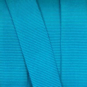 Gros Grain Bleu Canard 16mm