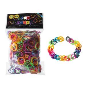 Elastic loom bands, recharge de 600 élastiques de coloris assortis