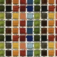Tissu nuancier palette aquarelle  (x 20 cm)