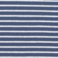 Tissu jersey Hilco Campan coloris Bleu et Neige, Oeko Tex