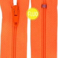 Fermeture éclair Orange Fluo, 20 cm