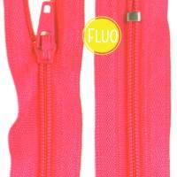 Fermeture éclair Rose Corail Fluo, 20 cm