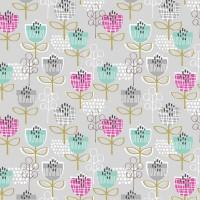 Tissu Tulipes graphiques, collection Petite Street, designer Dashwood Studio