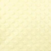Minky Dot, coloris jaune pâle (x 50 cm)