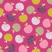Tissu Pommes rétro, collection Retro Orchard, designer Dashwood Studio