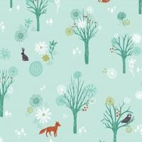 Tissu foret enchantée, collection Wildwood, designer Dashwood Studio ( x 50cm)