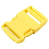 Boucle plastique type sac à dos, 38mm coloris Jaune Bouton d'or
