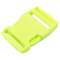 Boucle plastique type sac à dos, 38mm coloris Vert Anis fluo
