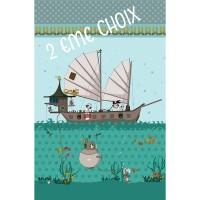**2eme choix** Panneau Pirate, designer Les Moutons de Kallou 50 x 80 cm