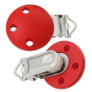 Clip attache Tétine, coloris rouge (1 pièce)