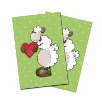 Carte postale mouton amoureux
